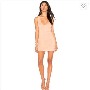 H:OURS Nude Bodycon Dress Revolve